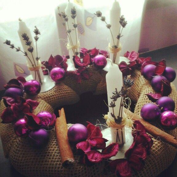 Advent, candles, vintage
