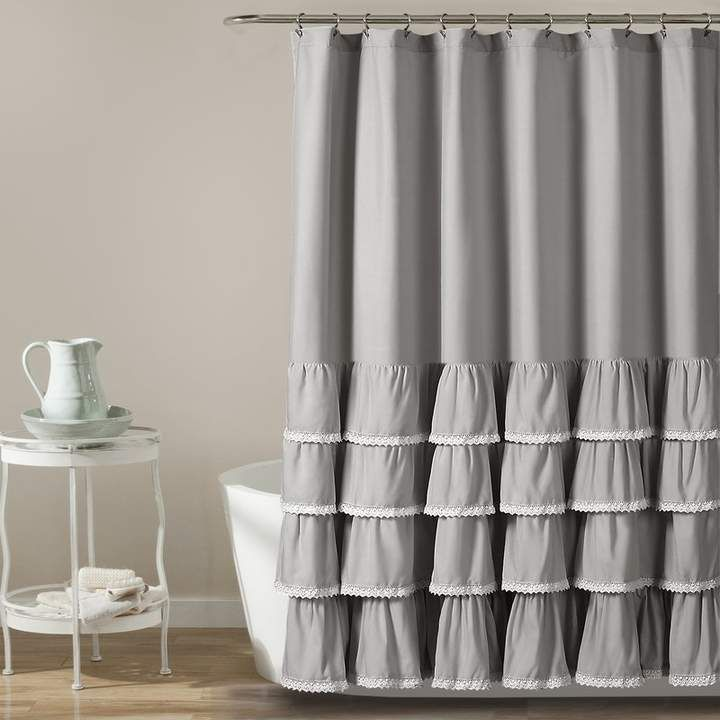 Harriet Bee Urban Single Shower Curtain Ruffle Shower Curtains
