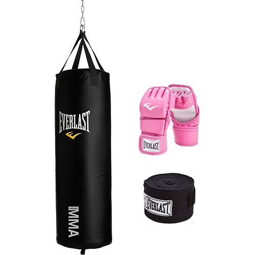 Kickboxing bag and gloves - train to be a bad ass!