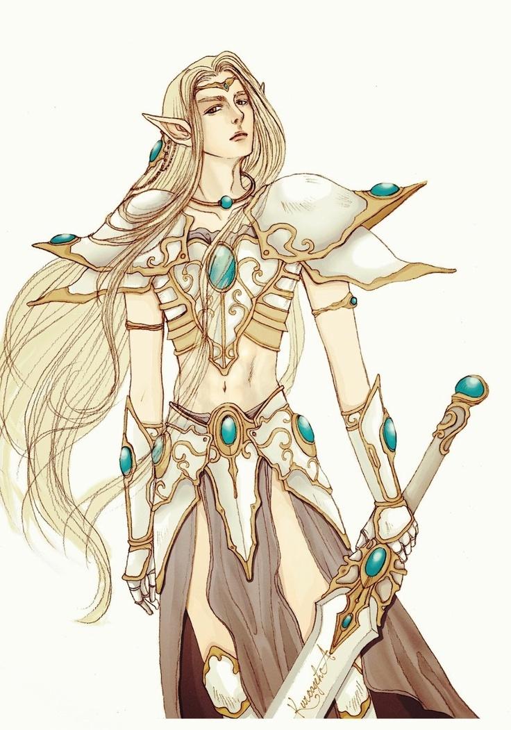 elf warrior drawingcg