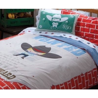 Wanted Quilt Cover Set by Kas Kids