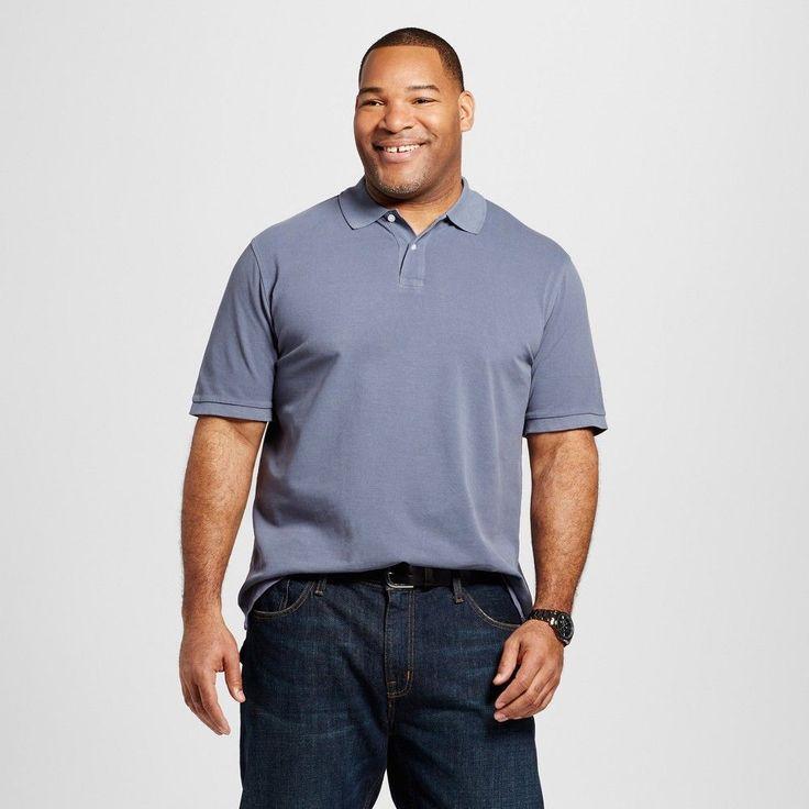 Men's Big & Tall Polo Gray L Tall - Merona, Shirts & Tops