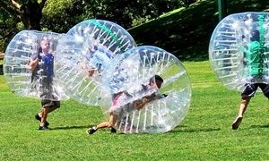 Groupon - Game of Bubble Soccer for Up to Four, Eight, or 16 from Bubble Soccer Orange County (Up to 53% Off) in Heritage Park. Groupon deal price: $39
