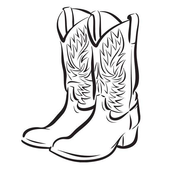 17 Best Images About Drawings Of Cowboy Boots Coloring Drawing Of A Cowboy Boot Printable