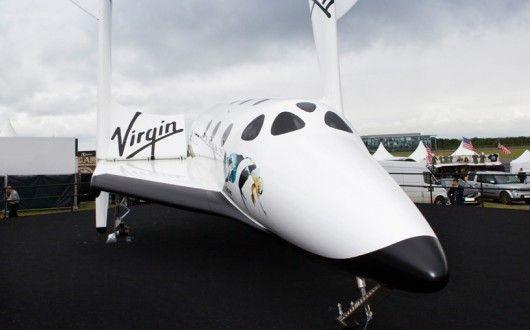 Virgin Galactic at Farnborough Airshow 2012. First flight due in 2013