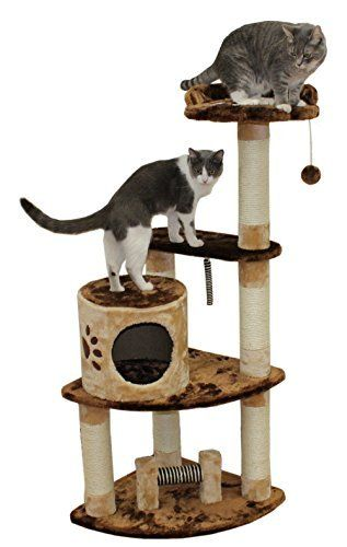 "53"" Florence Cat Tree in Brown / Beige - Premium Cat Tree for Large Cats and Kittens, Cat Furniture Bundles with Scratching Post and Cat Condo, Cheap Cat Trees and Condos"