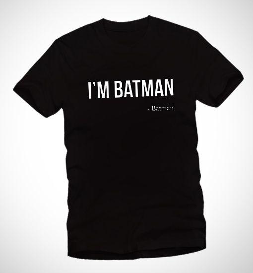 Because I'm Batman T-Shirt by Henshin! http://zocko.it/LB61Y