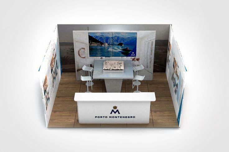 Progetto grafico per allestimento stand promozionale.