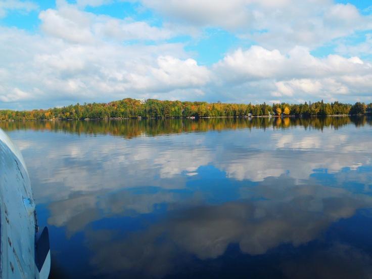 Glassy water on Lorimer Lake in McKellar