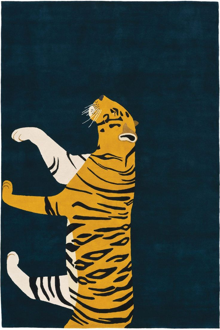 Tiger by Edward Barber & Jay Osgerby for The Rug Company #animalrugs #barberosgerby #therugcompany