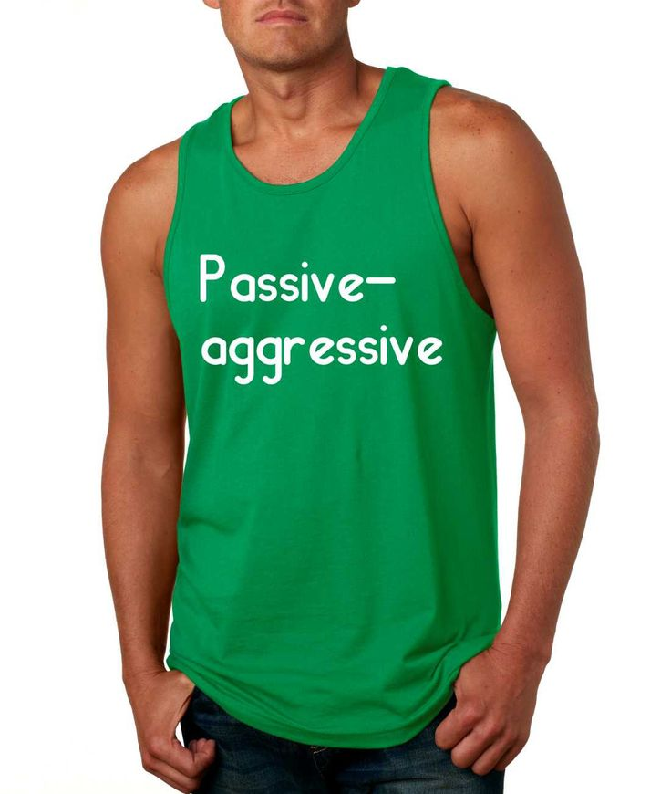 Men's Tank Top Passive Agressive Lazy Tired Funny Top