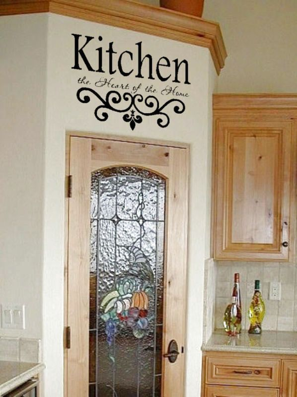 kitchen wall quote vinyl decal lettering decor sticky $29.94 | white