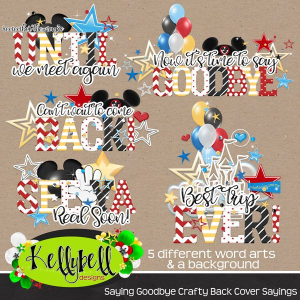 farewell scrapbook template - saying goodbye crafty back cover sayings disney