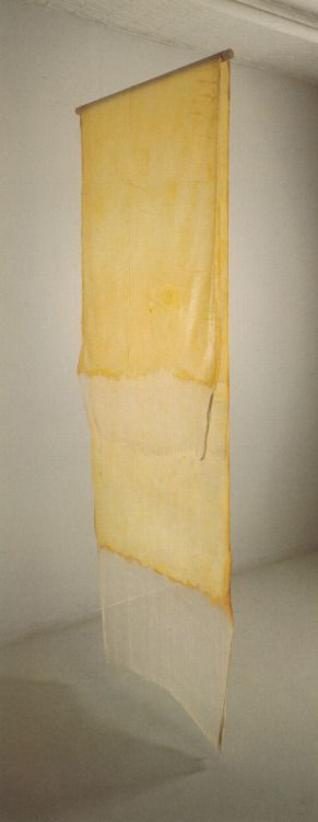 sister-saint: buvisualarts:Eva Hesse Test piece for Contingent, 1969Latex over cheesecloth144 x 44 in. WOW i've never seen this sample before!!!