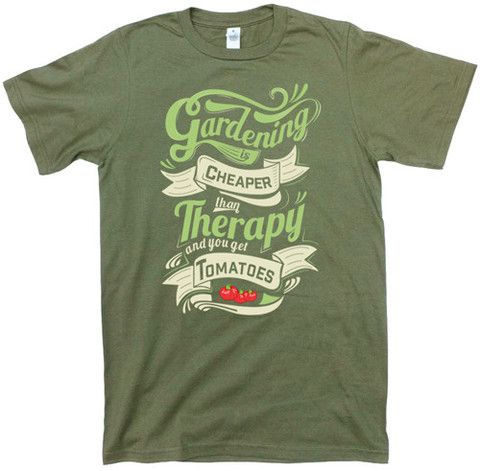 """Gardening is Cheaper Than Therapy (NEW)"" Unisex Organic Cotton T-shirt"