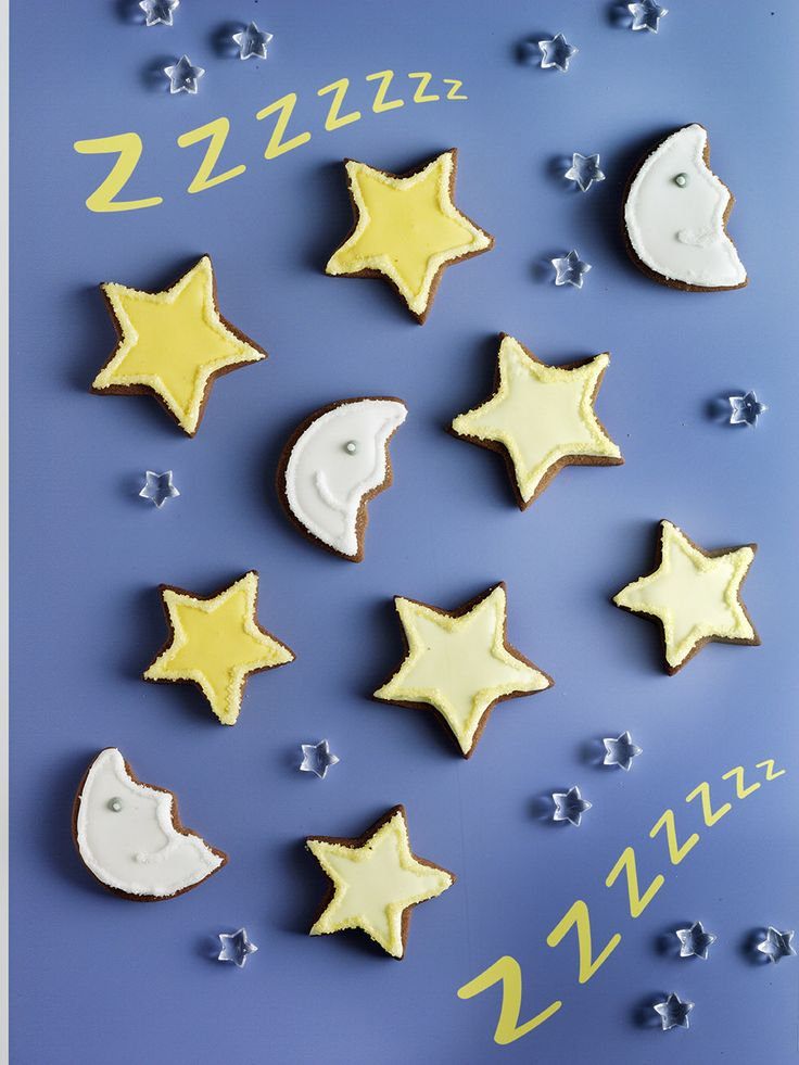 Icing koekjes maan en sterren