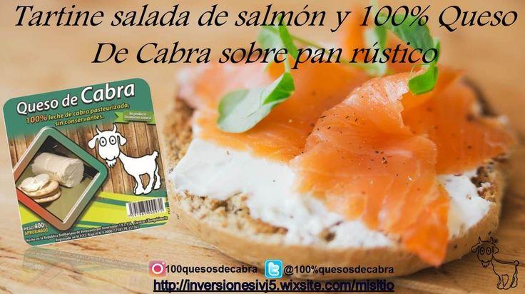 Para picar Saldon en pan Tostado y 100% Queso De Cabra Natural