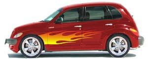 airbrushed flames PT Cruiser - Graphic Decal Kits