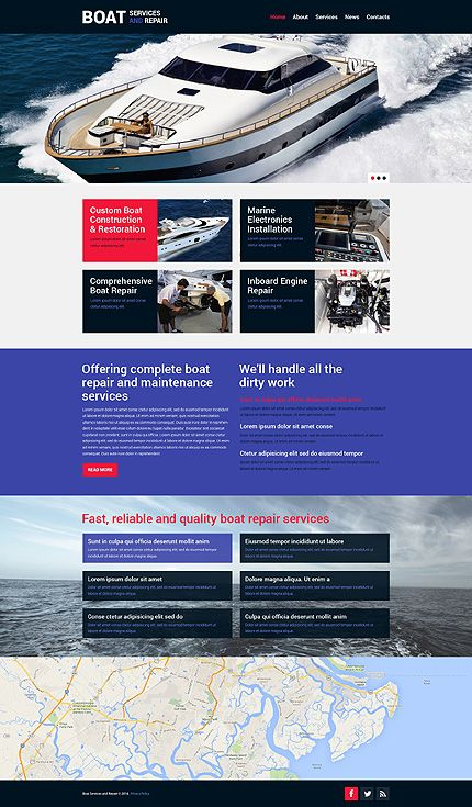 Template 49269 - Boat Services  Responsive Website Template
