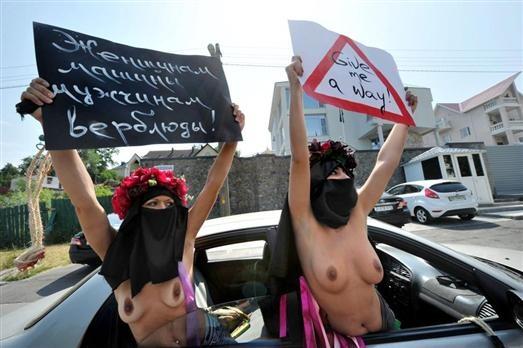 Kiev/Ukraine. Les femmes du mouvement
