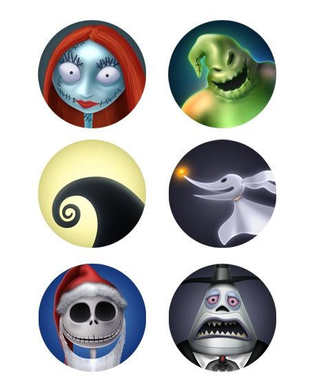 Nightmare Before Christmas Characters | ... . All main characters are depicted in the same portrait style