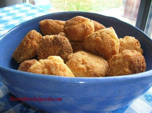 You will love this southern hot water cornbread. Made with boiling water and delicious. Not to be confused with hushpuppies.