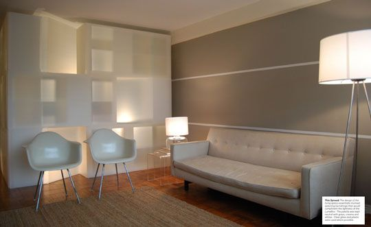 one horizontal stripe wall google search paint colors pinterest guest rooms stripe. Black Bedroom Furniture Sets. Home Design Ideas