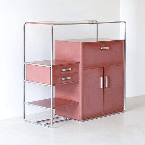 Le fonctionnalisme - Rare Bauhaus cabinet by Bruno Weil for Thonet.