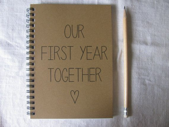 Our First Year Together  5 x 7 journal by JournalingJane on Etsy, $6.00 -- other books like it too!