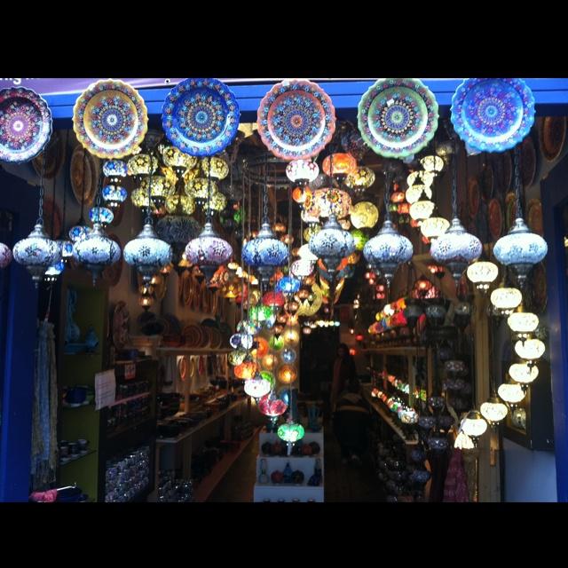 Gorgeous lap shop in Camden market, London.