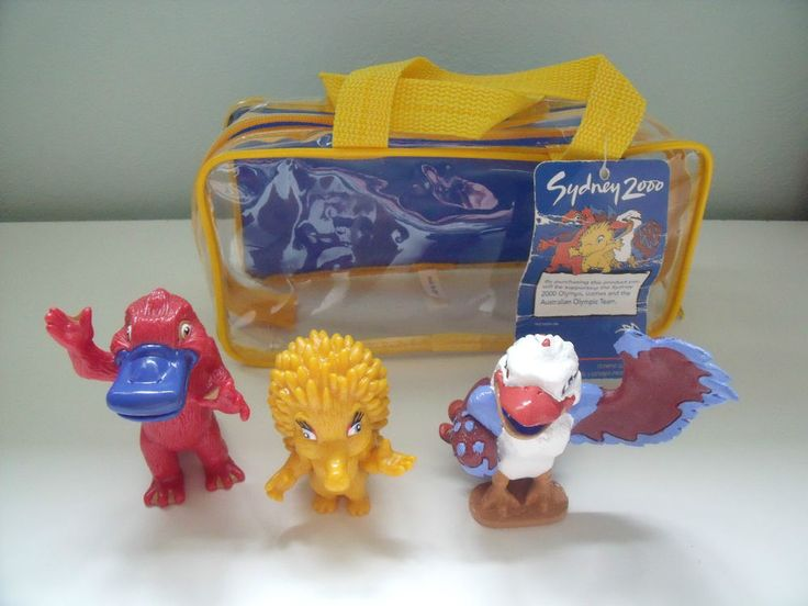 RARE Sydney 2000 Olympic Mascot Figures Olly Syd and Millie in Plastic Carrycase | eBay
