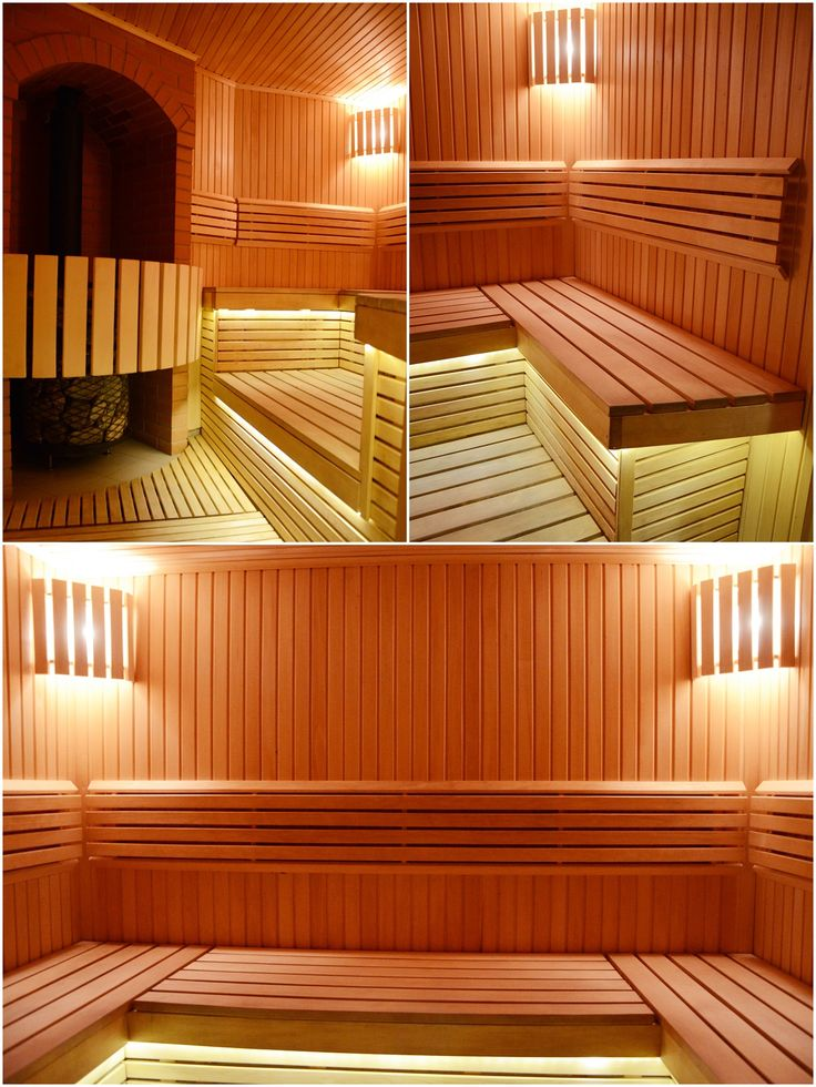 Sauna walls and benches were made from highest quality  linden wood. Estonian Tatpar heater. Gabrio diabase and Talkochlorite stones. Lighting - in the top corners - 2 Harvia sauna lamps, under the benches warm white LED lighting.