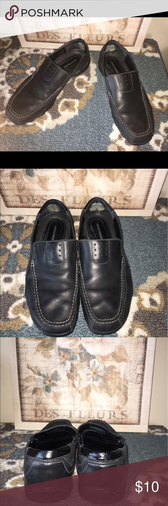 Skechers for Men black slip ons size 10 Skechers for Men black slip ons size 10. Used. Skechers Shoes Loafers & Slip-Ons