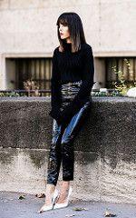 Evangelie Smyrniotaki in vinyl pants (PVC Fashion) Tags: evangelie smyrniotaki shiny sexy pvc vinyl plastic pants trousers clothing fashion model beauty celebrity celebrities women