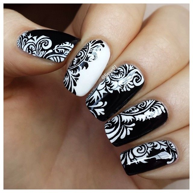 White nails with black design graham reid 65 best filigree nails images on pinterest enamels filigree and instagram photo by lieve91 nail nails white nails with black design prinsesfo Choice Image