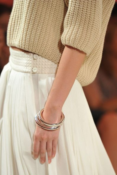 Hermes: Runway - Paris Fashion Week Spring / Summer 2012  love the low slung skirt with 3/4 sweater in cotton (probably)