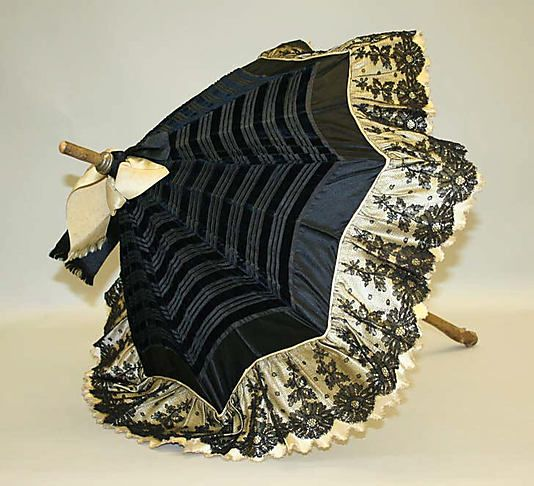 Parasol 1890, American, Made of silk and wood