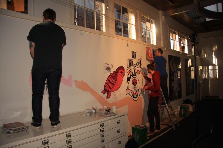 Wall painting at Artbox