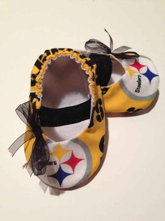 Pittsburgh Steelers Baby Maryjane Booties by saluna on Etsy, $15.00