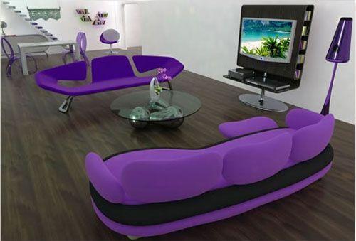 Cool purple furniture!