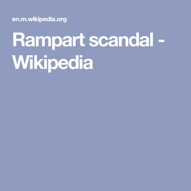 Rampart scandal - Wikipedia