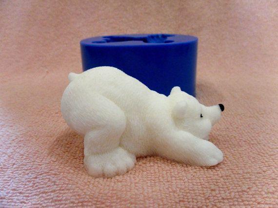 Белый медведь 2 силиконовые формы для мыла и свечей от soapcityru