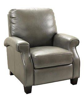#Barcalounger Clive 7-2153 Recliner Chair - Blanche Lividity 2110-95 Leather Gel Faux Leather Fabric. Low leg push-thru-the-arms lounger, with shaped hockey stic...