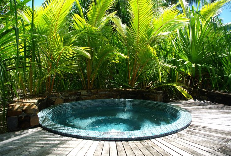 Outdoor Jacuzzi Ideas Tropical Garden Design Ideas With