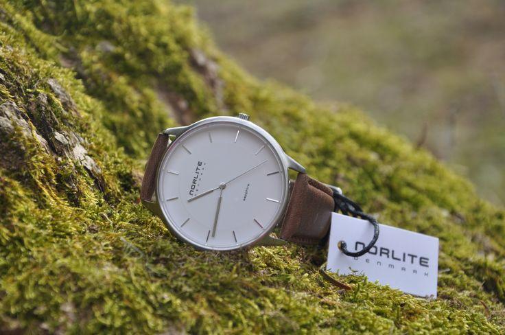 Norlite - Steel Case - White Dial - Dark Brown Leather Strap   #ure #kvalitet #danskdesign #watchs