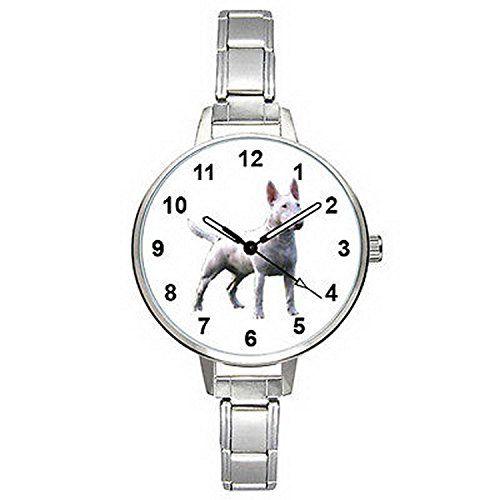 BMTC380 English Bull Terrier Italian Charm Bracelet Mens Ladies Quartz Wrist Watch >>> Please continue read.