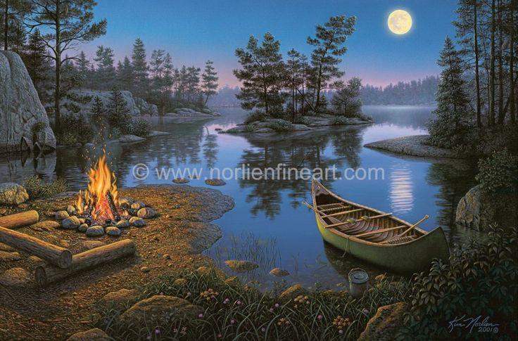 Moonight Bay Campfire by Kim Norlien ~ camping ~ campfire ...