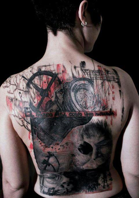 Bajo La Piel tattoo Ponferrada #tattoo #Ponferrada #Valladolid #diseñográfico #graphicdesign #tatuaje #trash polka