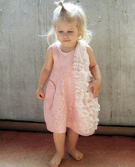 Felted Dress by elmiratiteyeva