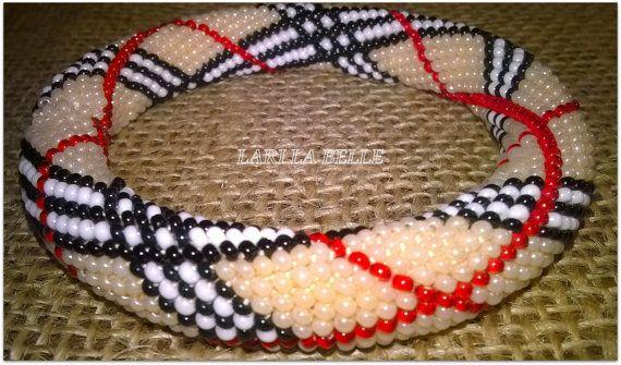 Seed beaded crochet elegant bracelet handmade от LariLaBelle
